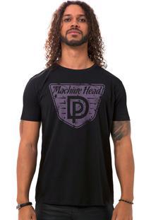 Camiseta Masculina Machine Head Preto B