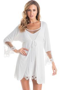 Robe Aline Off White/P