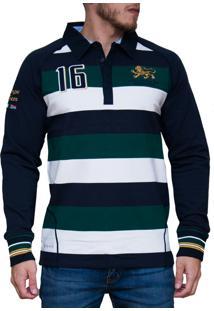 Blusa Kevingston Stockport Rugby Verde Listrado