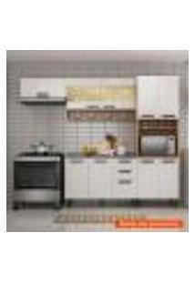 Cozinha Compacta New Jazz 7 Pt Off White E Freijó