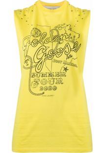Golden Goose Regata Com Logo - Amarelo