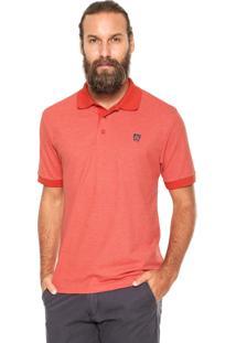 Camisa Polo Mr Kitsch Maga Curta Double Laranja