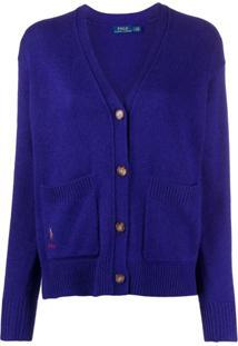 Polo Ralph Lauren V-Neck Cardigan - Azul