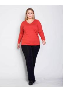 Calça Plus Size Palank Bailarina Basic Feminina - Feminino-Preto