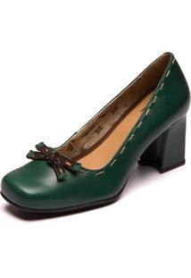 Sapato Mzq Sophia Loren Verde Esmeralda / Cafe 5978