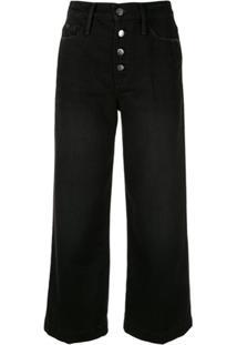 Frame Calça Jeans Ali Wide Crop - Preto
