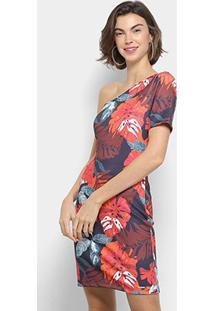 17359ea56 ... Vestido Colcci Tubinho Curto Folhagem - Feminino-Vermelho