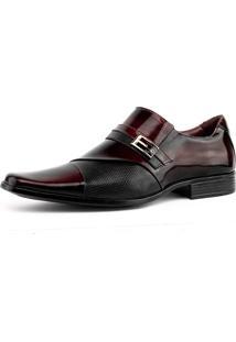 Sapato Social Gofer Verniz 0701 Dark Red