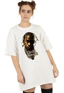 Camiseta Checks Over Stripes Feminina - Feminino