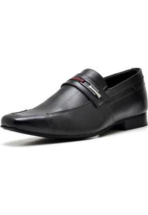 Sapato Executivo Top Franca Shoes Masculino - Masculino-Preto