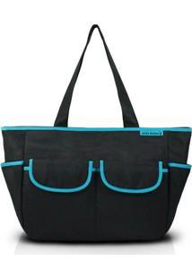 Bolsa De Lisa - Jacki Design - Feminino-Preto+Azul