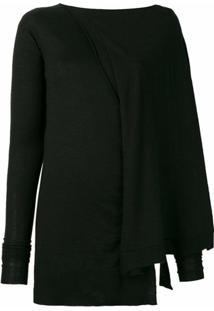 Rick Owens Suéter Assimétrico - Preto