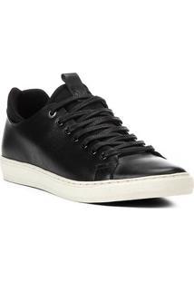 Sapatênis Shoestock Neoprene Couro Masculino - Masculino-Preto