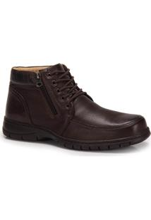 Bota Casual Conforto Masculina Anatomic Gel Plus - Cafe