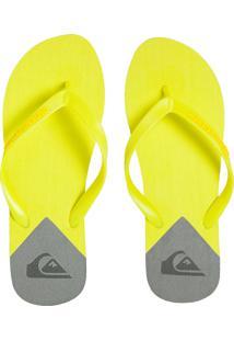 Chinelo Quiksilver Molokai New Wave Amarelo