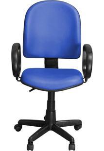 Cadeira Pethiflex Pegbp Giratória Couro Azul