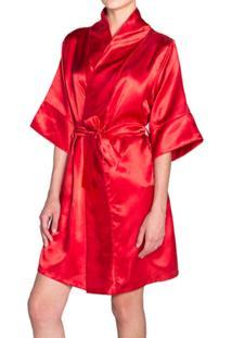 Robe Tout Au Feminin Cetim Vermelho