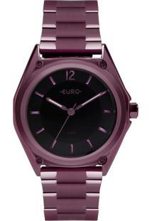 Relógio Euro Color Mix Geometric Roxo Eu2035Ypm/4P