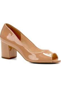 bcdb0955d0 Peep Toe Shoestock Verniz feminino