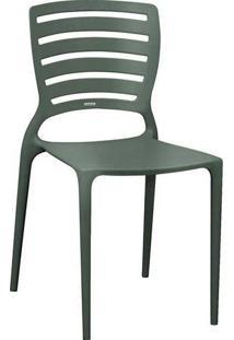Cadeira Sofia Cinza Encosto Vazado Horizontal Tramontina