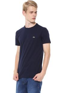 Camiseta Lacoste Gola Redonda Azul