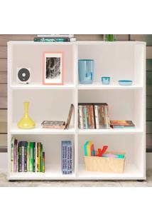 Estante Para Livros Clean 4 Prateleiras Branco 005329 - Artany