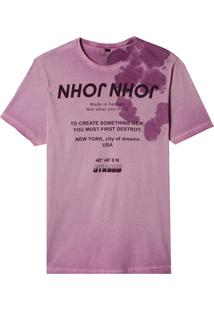 Camiseta John John Rg Inverted John Malha Roxo Masculina (Potent Purple, Pp)