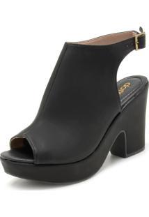 Sandália Dafiti Shoes Liso Preta