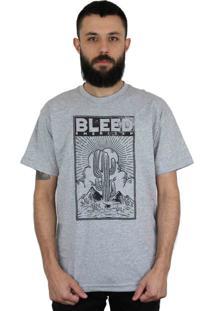 Camiseta Bleed American Cactus Cinza Mescla