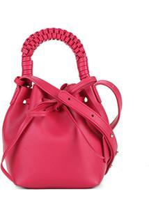 Bolsa Shoestock Mini Bag Bucket Handmade Feminina - Feminino-Pink