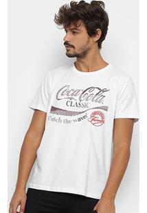 Camiseta Coca-Cola Original Formula Aroma Masculina - Masculino-Branco