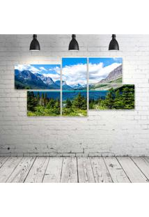 Quadro Decorativo - Yellowstone-National-Park - Composto De 5 Quadros - Multicolorido - Dafiti