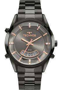 Relógio Technos Feminino Classic Analógico/Digital Cinza T200Ak4C - Kanui
