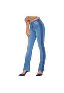 Calça Jeans Lúcia Figueredo Reta Azul