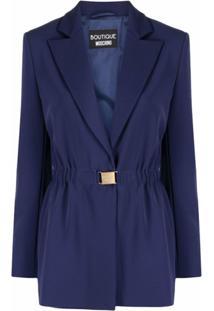 Boutique Moschino Blazer Com Cinto - Azul