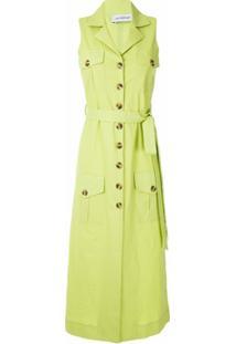 Olympiah Vestido Midi Bryone Com Amarração - Verde