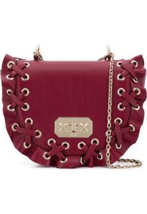 Red Valentino Bolsa Com Babado - Vermelho