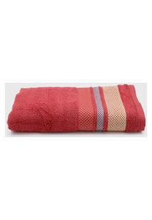 Toalha De Banho Santista Home Design Texture 70Cm X 1,30M Vermelho