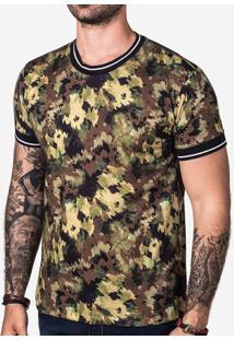 Camiseta Camo Gola Listrada 102745