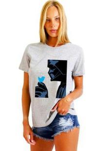 Camiseta Joss Estampada Darth Feminina - Feminino-Mescla