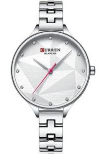 Relógio Curren Analógico C9047L Feminino - Feminino-Prata