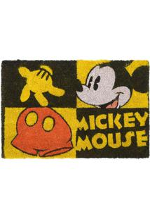 Capacho Mickey®- Amarelo & Preto- 1,5X61X41Cm- Mmabruk