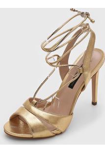 Sandália Jorge Bischoff Metalizada Dourada