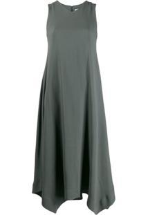 Fabiana Filippi Vestido Decote Em V Assimétrico - Cinza