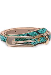 Cinto Birô Snake Feminino - Feminino-Verde