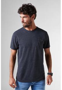 Camiseta Pf Enxuto Bolso Mescla Reserva Masculina - Masculino-Preto