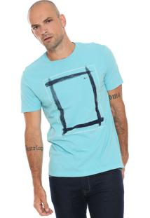 Camiseta Aramis Retângulos Azul