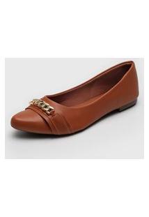 Sapatilha Dafiti Shoes Corrente Caramelo