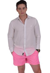 Camisa Social Horus Slim Branca Martingale 100235 Branco