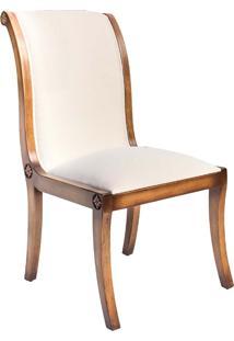 Cadeira Nicolau Madeira Maciça Design Clássico Avi Móveis